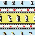 Penguin heart background vector