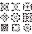 Flower symbols vector