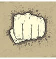 Beautifull of fist in grunge style vector