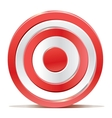 Red darts target aim on white background vector
