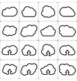 Cloud shapes set icons vector