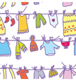 Baby clothes set seamless pattern vector