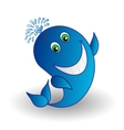 Whale smiling vector