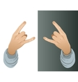Hand with a hip-hop yo gesture vector