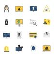 Hacker icons flat vector