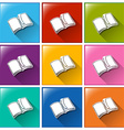 Buttons with notebooks vector