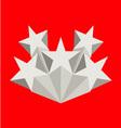 Five silver stars vector