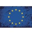 European union flag grunge background vector