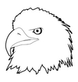 Drawn eagle head vector