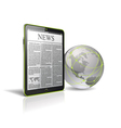 Generic tablet pc with globe vector