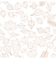Seamless autumn leaves pattern template vector