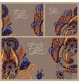 Set of floral decorative background vector