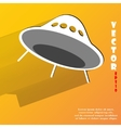 Flat modern web button with long shadow and space vector