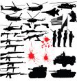 Military silhouettes vector