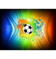 Abstract ink background with soccer ball vector
