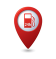 Petrol station 24h red pointer vector