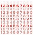 Numbers big set vector