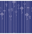 Seamless pattern with keys hanging on chains vector