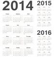 Russian 2014 2015 2016 calendars vector