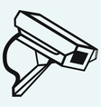 Outdoor surveillance camera vector