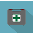 Flat first aid set vector