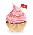 Swiss cupcake vector
