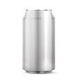 Metal aluminum beverage drink can vector