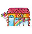 A toy shop vector