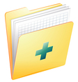 Medical records vector