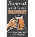Vintage style chalkboard beer sign banner vector