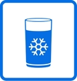 Water glass with snowflake vector