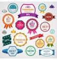 Color sale labels set vector