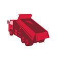 Dump dumper truck dumping load rear vector