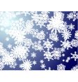 Snowflake blue new vector