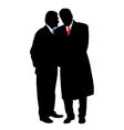 Two businessmen vector