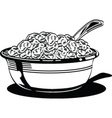 Cereal bowl vector