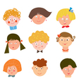 Children funny faces set vector