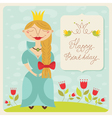 Birthday princess card vector
