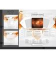 Website design template menu elements vector