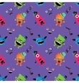 Hipster monster seamless pattern vector