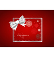 Christmas background with gift box and snowflakes vector