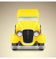Yellow retro car vector