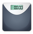 A bathroom scale vector