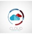 Cloud storage company logo minimal design vector