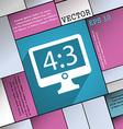 Aspect ratio 4 3 widescreen tv icon symbol flat vector