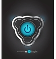 Futuristic power button vector