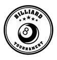 Billiard tournament vector