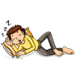 A man sleeping vector