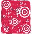 Grungy circles vector