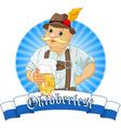 Oktoberfest bavarian oktoberfest bavarian label w vector
